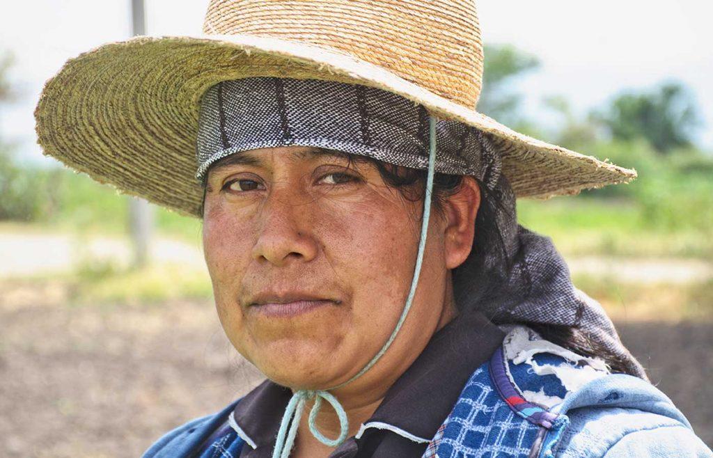 No sólo realizan las labores del hogar, también siembran por igual en el campo. (Ocotlán de Morelos, Oaxaca)