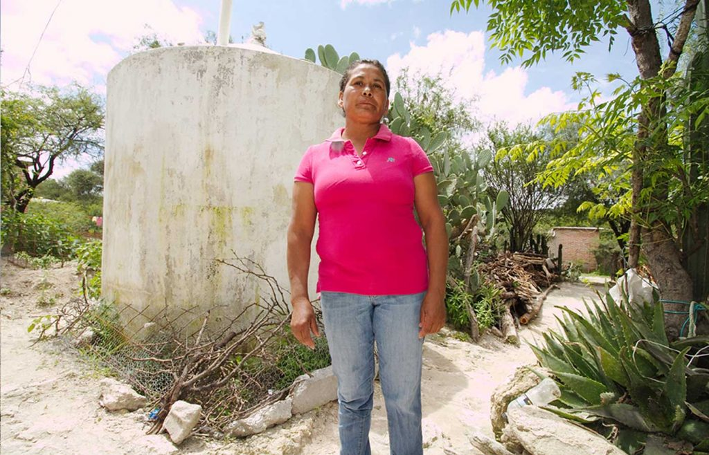 Rescatan el agua de lluvia para la vida de la familia. (Juan González, Guanajuato)